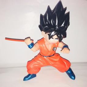 Figura Goku Pelea Baculo Plastico Dragon Ball Z Goku 21 Cm
