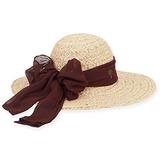 Sol N Arena - Sol Rafia Trenzado Sombrero Con Gasa Bufanda R