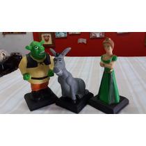 Bonecos Resina Actio Shrek Fiona, Burro!!! Lindos A Mão