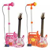 Guitarra Eléctrica Infantil Con Micrófono Y Amplificador