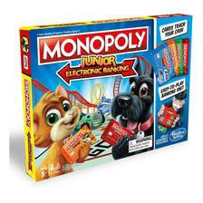 Monopoly Junior - Banco Electronico - Juego De Mesa - Hasbro