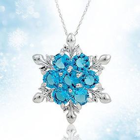 Regalo Colgante Collar De Plata Las Mujeres Niñas Elsa Conge