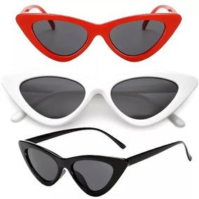 d7cc9fb206b52 Óculos De Sol Feminino Retrô Gatinho Estiloso Proteção S029