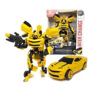 Muneco Auto Transformers Amarillo Bumblebee Nvo 151a Bigshop