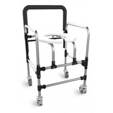 Cadeira De Banho Dobrável Com Rodas - Idosos E Deficientes