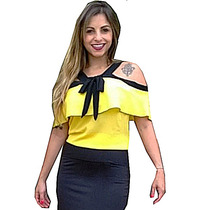 Blusa Feminina Ciganinha Gipsy, Com Babado, Cigana
