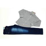 Conjunto Camisa Swat Cinza E Calça Jeans
