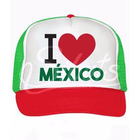 Gorra Tricolor Tipo Trucker O I Love México Independencia