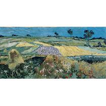 Lienzo Tela Vincent Van Gogh Planicies De Auvers 90 X 185 Cm