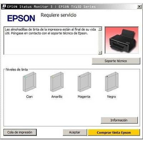 Reset Epson L100 L210 L300 L350 L355 L800 Error Almohadillas