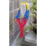 Collares Rosarios Tejido Venezuela Tricolor Bisuteria