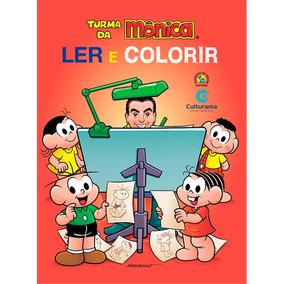 Livro Turma Da Mônica - Ler E Colorir Médio - Culturama