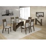 Conjunto De Mesa 6 Cadeiras Aparador Caribe E Painel Malbec