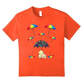 Unisex-child Paraguas Protección 2 Gatitos Camiseta 12 Nara