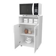 Mueble Organizador Porta Microondas Horno Con Ruedas Cocina