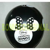 Globos Látex Minnie Mouse 10 Unidades