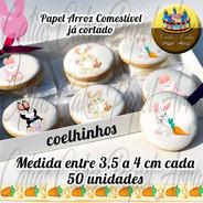 Páscoa Papel De Arroz Para Biscoito Coelhos 50 Unidades