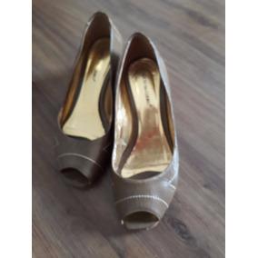Sapato Peep Toe Da Marca Oficio Do Couro 37