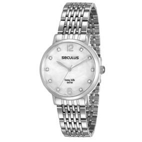 Relógio Feminino Seculus Pulseira De Aço - 28814l0svna3