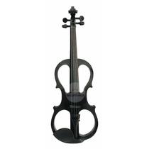 Violino Elétrico Case Preto Profissional 4/4 Black Friday