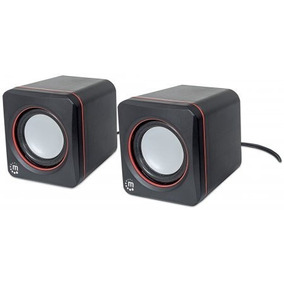 Sistema Audio Altavoces Usb Pc Serie 2600 Negro Manhattan