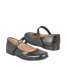 Zapatos De Vestir Para Niña Stylo 3432 Simipiel Negro 18-21