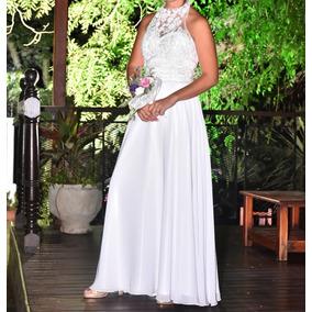 Vestido Novia Blanco Largo Impecable