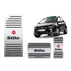 Pedaleira + Descanso Aço Inox Fiat Stilo Blackmotion!!!