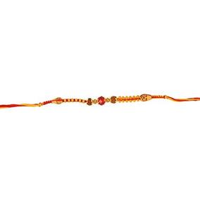 Pulsera Rakhi India Hilo Sagrado Con Bolas Sagradas Rudraks