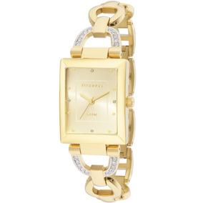 Relógio Feminino Technos Quadrado Dourado Em Aço 2035lyn/4x