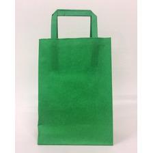 Bolsa Papel Lisas Verde Ideal Sorpresita Cumple 14x20