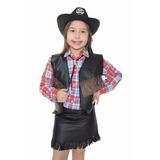 Colete Cowboy,country,vaqueiro,fantasia,infantil,cowgirl
