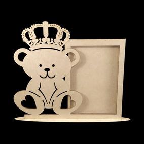Kit Com 30 Porta Retrato Urso Principe Mdf-lembrancinhas