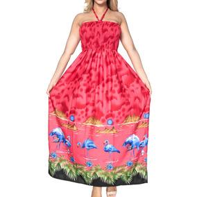 Vestido Tubo La Leela De Playa P/dama De Honor Cuello Halter