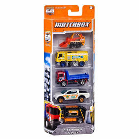 5 Pack City Works Matchbox 2011 - L200 Triton Caminhão Lixo