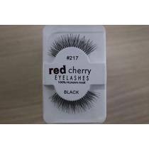Cilios Postiços Red Cherry #217 O Par 100% Cabelo Humano