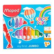 Marcadores Maped Color Peps Jumbo X 12 Colores Educando Full