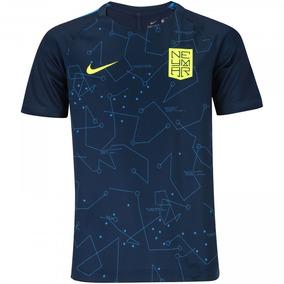 c80ded0dde Camiseta Infantil Nike Neymar Dry Squad Top Azul Original
