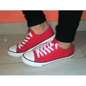 Zapatos Tipo Converse Rojos Talla 39