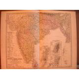 Mapa Antiguo De India 1880