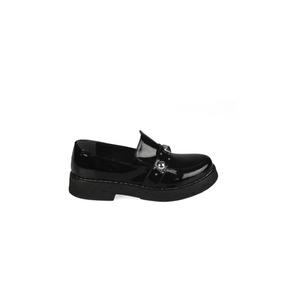 Zapato Mocasín Negro Charol - Lorena Bsas