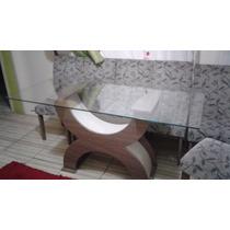 Mesa De Jantar 6 Cadeiras Super Confortaveis E É De Vidro