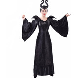 Disfraz Maléfica Adulto Cc431 Talla S-m Halloween Mujer