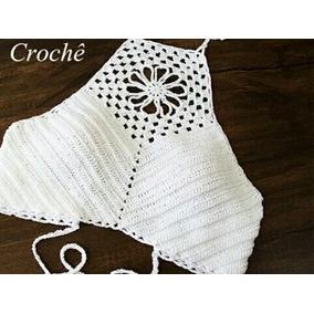 Top Cropped Crochê Larajado G E Gg