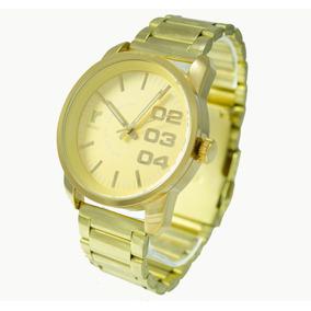 Relógio Masculino Dourado Original Redley Atlantis + Caixa