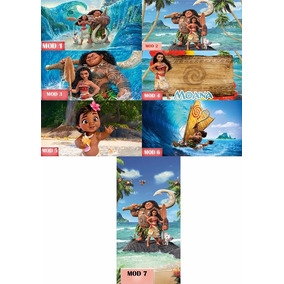 Painel Decorativo Infantil Moana Um Mar De Aventuras 2x1