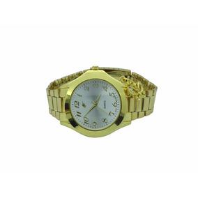 Lote 4 Relógios Analógico Dourado Com Pingente Ab-33 #