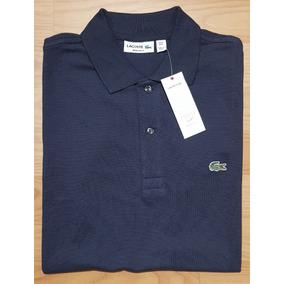 b000632ad03a6 Camisa Lacoste Cor Principal Azul Escuro - Camisa Manga Curta ...