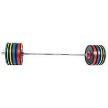 Set De Discos Bumper Color Incluye Barra Set De 305 Lbs