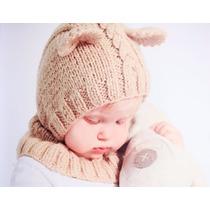 Gorro Tejido Para Bebé En Forma De Un Adorable Bebé Oso
